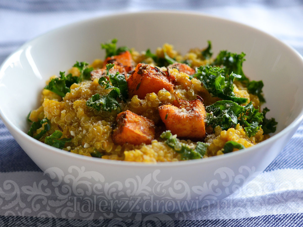 Dyniowe risotto z quinoa