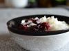 Waniliowy ryż z konfiturą z owoców leśnych i chia