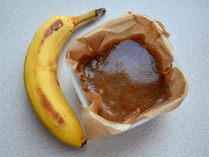 Toffi bananowo orzechowe