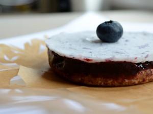 Jagodowe lodowe ciastka
